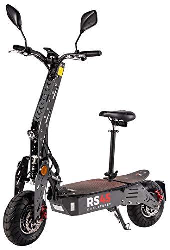 eFlux RS45 Pro Elektroroller Scooter - 2000 Watt Hubmotoren - Straßenzulassung - 45 Km/h Geschwindigkeit...