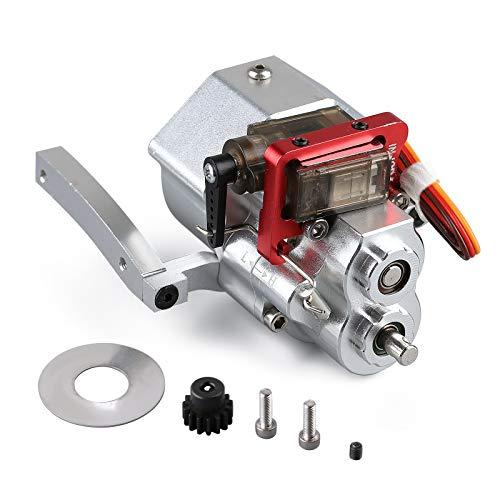 INJORA RC Metall Chassis Rahmen 313mm Radstand mit vorfixiertem Schaltgetriebe für 1/10 RC Crawler Car...