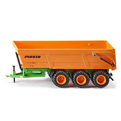 siku 2892, Joskin Dreiachs-Muldenkipper, 1:32, Metall/Kunststoff, Orange, Kippbare Mulde, Für siku...