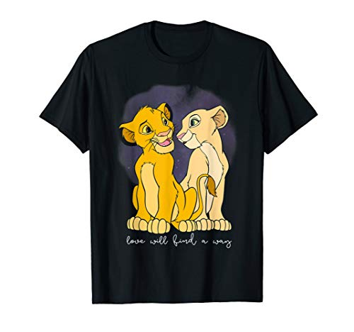 Disney Lion King Simba Nala Love Valentine's Graphic T-Shirt