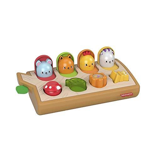 Fisher Price GJW24 - Guck-Guck-Spielzeug, fördert die Feinmotorik, aus Holz und weichen Materialien,...