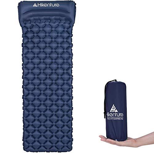 HIKENTURE Camping Isomatte Kleines Packmaß Aufblasbare Isomatte Ultraleicht - Sleeping Pad für Camping,...