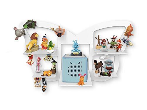 Regal für Toniebox für über 40 Tonies, Regal für Kinder Sammelset Schmetterling - Zubehör für die...