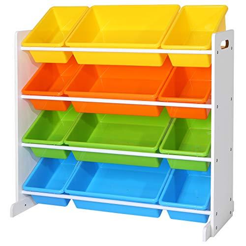 SONGMICS Kinderregal, Kinderzimmerregal, Spielzeugregal, Spielzeugaufbewahrung für Kinder,...