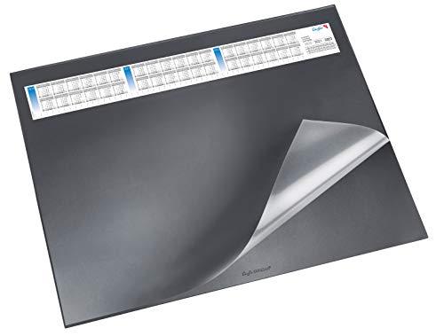 Läufer 44656 Durella DS Schreibtischunterlage mit transparenter Auflage und Kalender, rutschfeste...