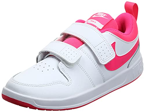 Nike Pico 5 Tennis Shoe, White/Hyper Pink, 35 EU