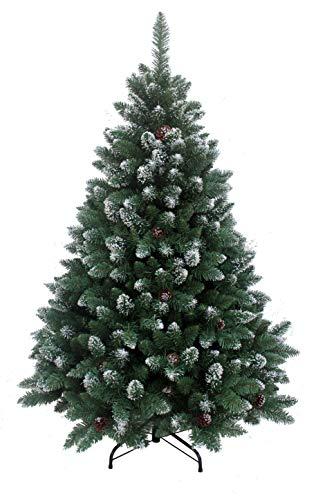 RS Trade HXT 15013 künstlicher Weihnachtsbaum 120 cm mit Schnee und Zapfen (Ø ca. 78 cm) ca. 500...