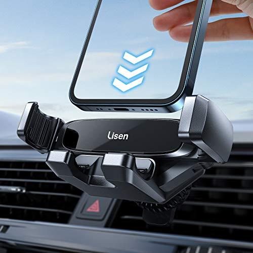 LISEN Handyhalterung Auto, Schwerkraft Pkw Handyhalter für Auto Lüftung Clip Kfz Handy Halterung...
