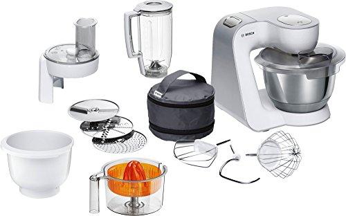 Bosch MUM5 CreationLine Küchenmaschine MUM58243, vielseitig einsetzbar, große Edelstahl-Schüssel...