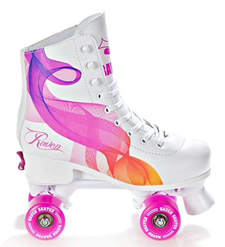 RAVEN Rollschuhe Roller Skates Serena Orange/Pink verstellbar (35-38(22,5cm-24cm))