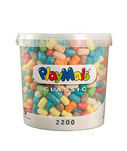 PlayMais Basic 2200 Bastelset für Kinder ab 3 Jahren | Basteleimer mit über 2200 Stück zum Basteln |...