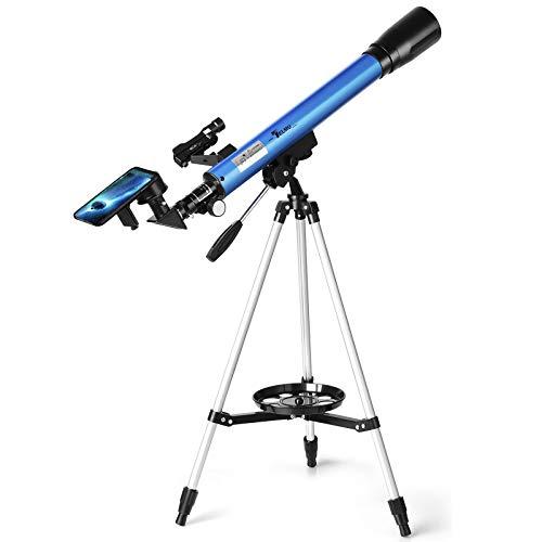 TELMU Teleskop Professionelle Astronomisches Teleskope Reflektor mit Verstellbarem Stativ, Sucherfernrohr...