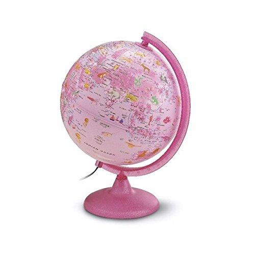 Kinderleuchtglobus ZP 2562 Zoo Pink: Kinderleuchtglobus 25 cm, Kunststoffausstattung in Pink, Glitzer im...