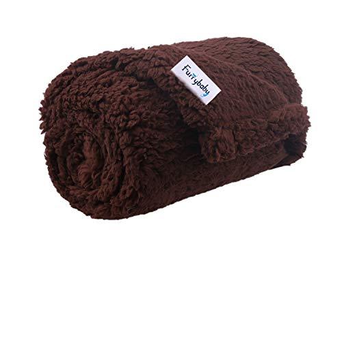 furrybaby Premium Fluffy Fleece Hundedecke, weicher und Warmer Haustierwurf für Hunde und Katzen (braun,...