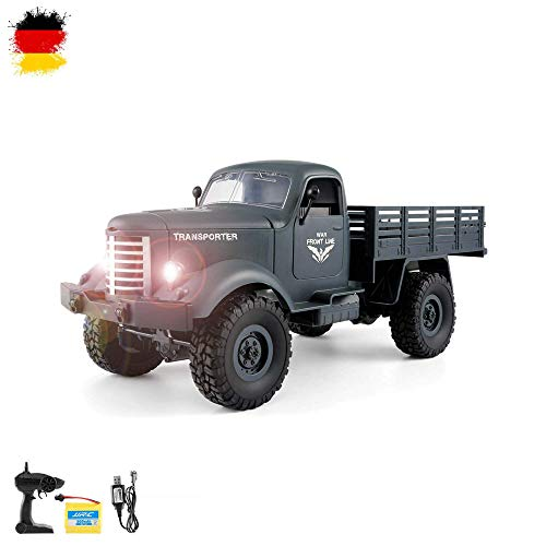 HSP Himoto 2.4GHz RC Ferngesteuerter 4WD Off-Road Militär Army Truck Crawler Fahrzeug Transporter,...
