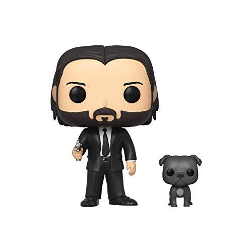 Funko 47238 POP! Movies: John Wick - John in Black Suit w/ Dog