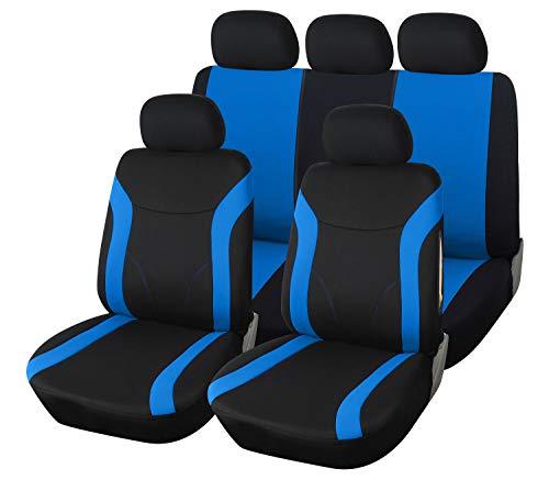 Upgrade4cars Auto-Sitzbezüge Set Blau Schwarz   Auto-Schonbezüge Universal   Auto-Zubehör Innenraum...