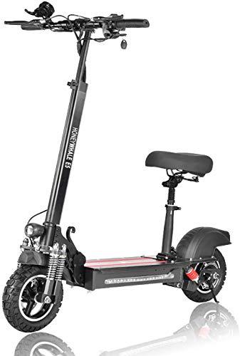 GTON 600W Electric Scooter Faltbarer E-Scooter, ohne Straßenzulassung (ABE) mit 10AH Li-Ionen-Akku, 48V...