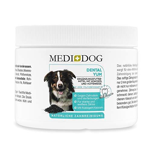 Medidog Dental YUM 300g Zahnpflege Granulat für Hunde effektiv gegen Mundgeruch und Zahnstein...
