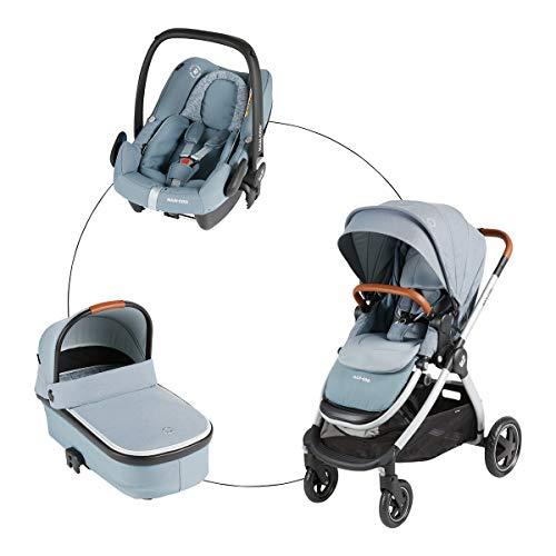 Maxi-Cosi Kombikinderwagen Adorra (Trio-Set) Kinderwagen mit Sportsitz, Babywanne Oria & Babyschale Rock...
