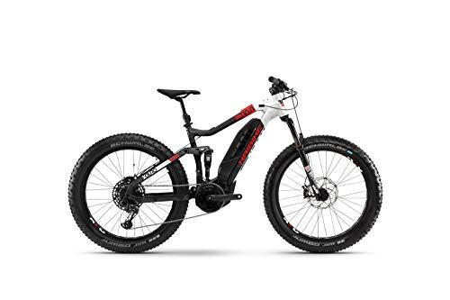 HAIBIKE XDURO FullFatSix 10.0 Yamaha Elektro Bike 2020 (S/42cm, Schwarz/Weiß/Rot matt)
