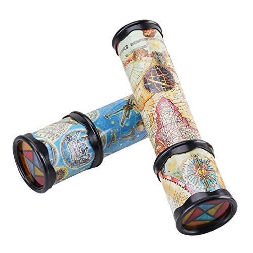 Toddmomy 2 Stück Klassisches Kaleidoskop Spielzeug Pädagogisches Kaleidoskop Spielzeug für Kinder...