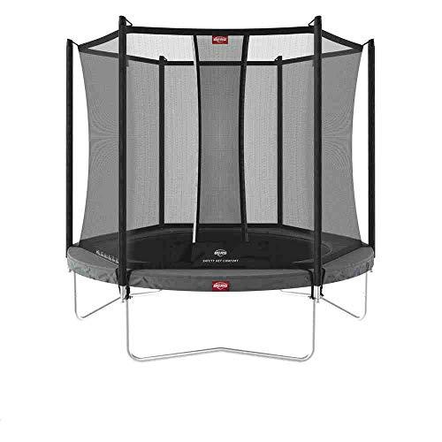 BERG Favorit Trampoline Regular 330 cm grau + Safety Net Comfort | Premium Trampolin, Hohe Qualität...