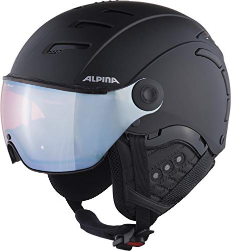 ALPINA Unisex - Erwachsene, JUMP 2.0 QVM Skihelm, black matt silver, 55-58 cm