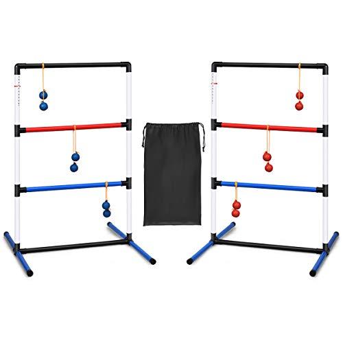 GOPLUS 2er Leitergolf Wurfspiel Set, Spin Ladder aus PVC, Ladder Golf mit Tragetasche,...