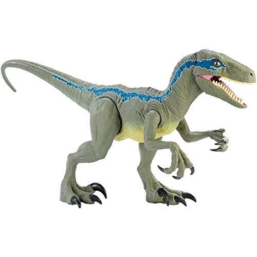 Jurassic World GCT93 - Riesendino Velociraptor Blue mit beweglichen Armen und Beinen, Spielzeug ab 4...