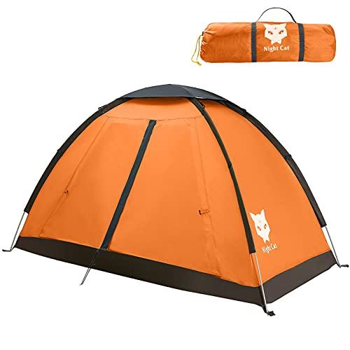 Night Cat Campingzelt für 1 2 Person Mann Zelte wasserdichte Rucksackzelte Einfache Einrichtung...