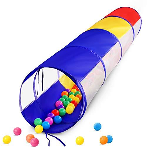 Spieltunnel für Kleinkinder, 6 Fuß aufklappbares Kriechtunnel-Spielzelt für Baby-Kleinkind-Kinder oder...