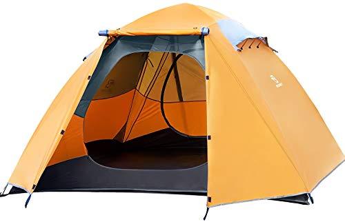 Bessport Zelt 4 Personen Ultraleichte Camping Zelte 3-4 Saison, Wasserdicht Zelt Kleines Packmaß,...