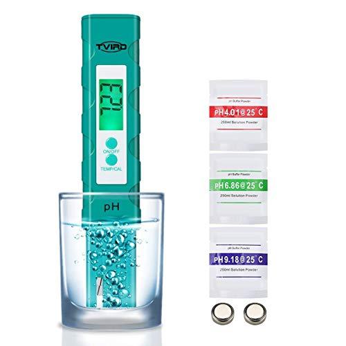 PH Messgerät PH Wert Messgerät Digital ,Tvird PH Tester Pool ATC Wasserqualitätstest Messgerät mit...