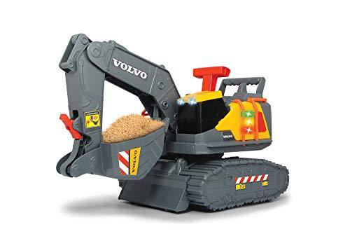 Dickie Toys Volvo Spielzeug Bagger mit Gewichtserkennung, Spielzeugbagger erkennt 3 verschiedene...