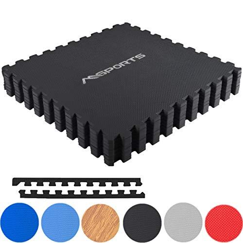 MSPORTS Bodenschutzmatten Set Premium - 8 Schutzmatten 3,175m² | Bodenschutz 60x60 cm Puzzlematten...