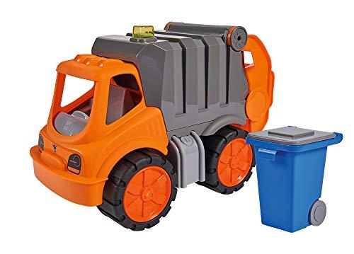 BIG - Power-Worker Müllwagen - Spielzeug Auto ideal für Unterwegs, Reifen aus Softmaterial, bewegliche...