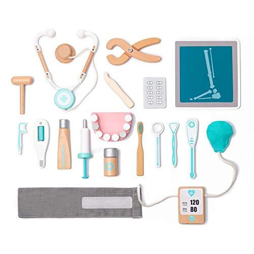 umu Holz Kinder Doktor Spielset für Kleinkinder, Täuschen Spielzeug 18 Stück Qualität Zahnarzt...