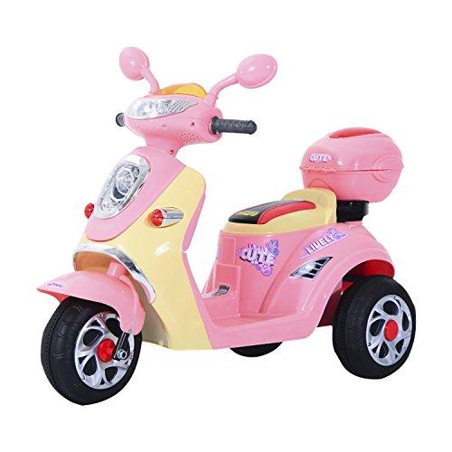 HOMCOM Elektro Kindermotorrad Elektromotorrad Kinderelektroauto Kinderfahrzeug Dreirad, 6V, Metall+PP,...