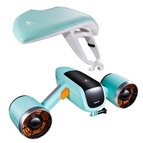 Sublue WhiteShark Mix Unterwasser Scooter Tauchscooter mit Action Kamera Halterung, Doppelmotor, 40m...