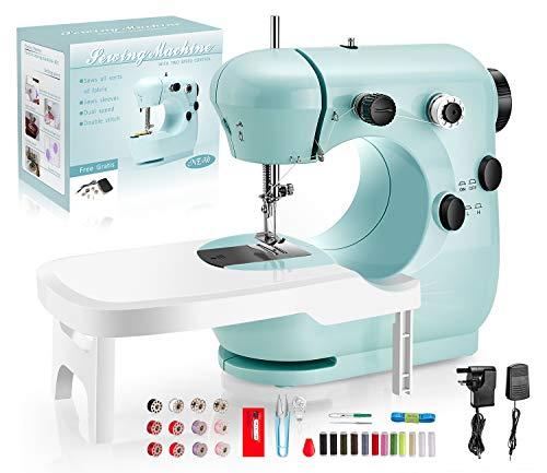 LDALAX Nähmaschine Anfänger für Kinder, Tragbare Nähmaschine mit Fußpedal DIY Materialien...