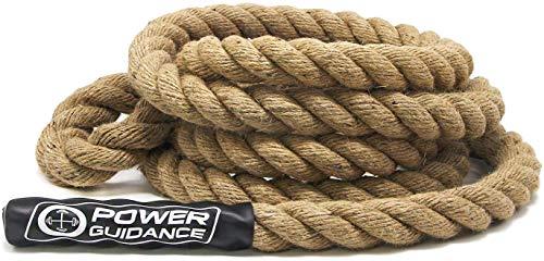 POWER GUIDANCE Kletterseil, Manila Kletterseil, Climbing Rope 3.8cm Durchmesser, Keine Halterung...