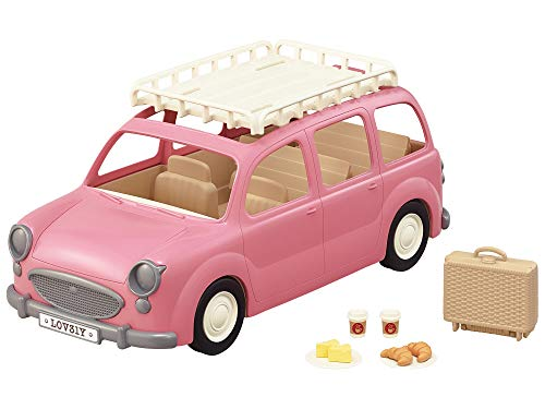 Sylvanian Families 5535 Familienauto mit Picknickzubehör - Puppenhaus Auto Spielset