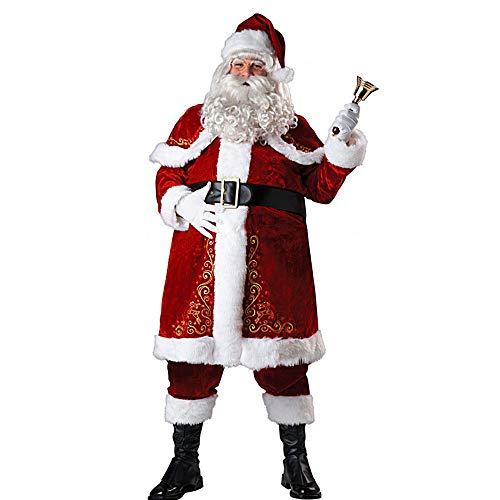 harupink Männer Weihnachtsmann Anzug Erwachsene Weihnachten Cosplay Kostüm Outfit Weihnachten Rot...