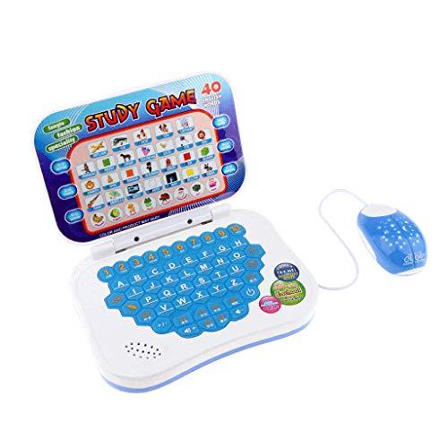 Fenteer Entdecker Laptop, Lernlaptop Lerncomputer Baby Tablet Mit Maus, Lernspielzeug für Kinder ab 4...