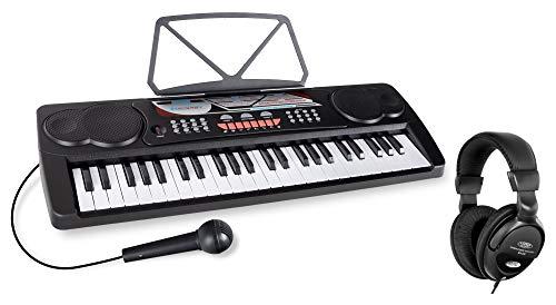 McGrey BK-4910BK Keyboard Set - Kinder Keyboard mit 49 Tasten - Einsteigerkeyboard mit 16 Sounds und 10...
