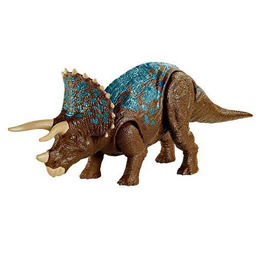 Jurassic World GVH66 - Brüll-Attacke Triceratops, Dinosaurier-Actionfigur, beweglich und mit...