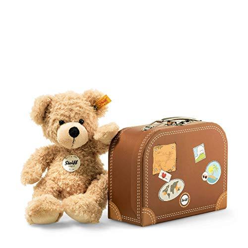 Steiff Teddybär Fynn im Koffer - 28 cm - Teddy Kuscheltier für Kinder - beweglich & waschbar - beige...