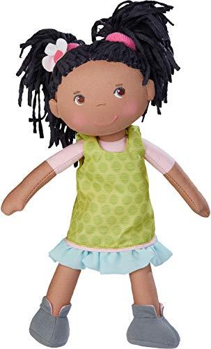 HABA 304576 - Puppe Cari, 30 cm, Weich- und Stoffpuppe für Kinder ab 18 Monaten, mit ausziehbarer...