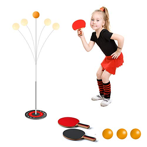 Taope Tischtennis-Trainer mit 2 elastischem, weichem Schaft, Freizeit, Ping-Pong-Dekompression, Sport...